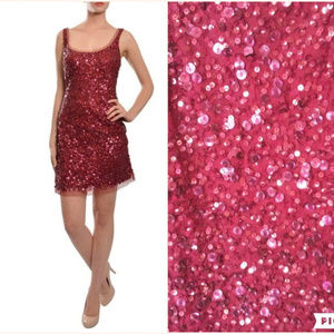 Aidan Mattox Sleeveless All-Over Sequin Dress